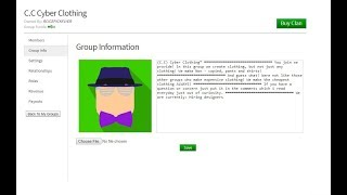 Roblox- How to edit your Group info!