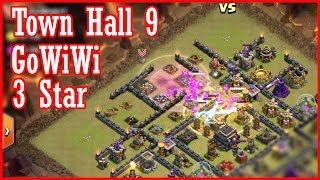 Town Hall 9 GoWiWi Attack Strategy   3 Star Maxed TH9 Clan War