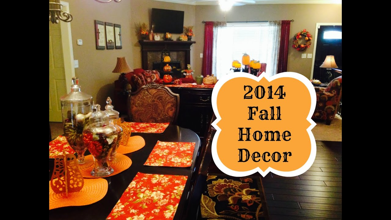 2014 Fall Decorations Home Tour And Mini Diy S Youtube