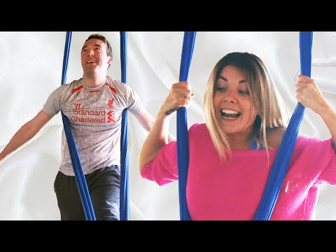 People Try Aerial Aerobics For The First Time