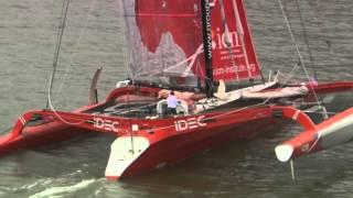 2013 IDEC Transat Attempt Francis Joyon New York Start.