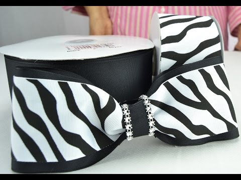 How to Make a Zebra Patterned Cheer Bow