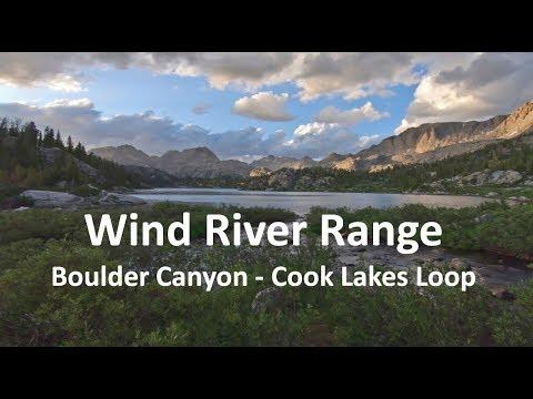 Wind River Range:  Boulder Canyon - Cook Lakes Loop