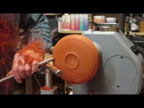 Wood Turning - A Padauk Bowl & Hampshire Sheen