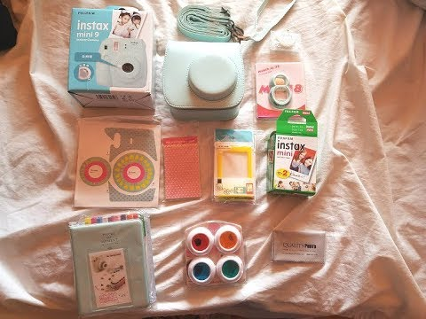 Instax Mini 9 Ice Blue Bundle from Amazon