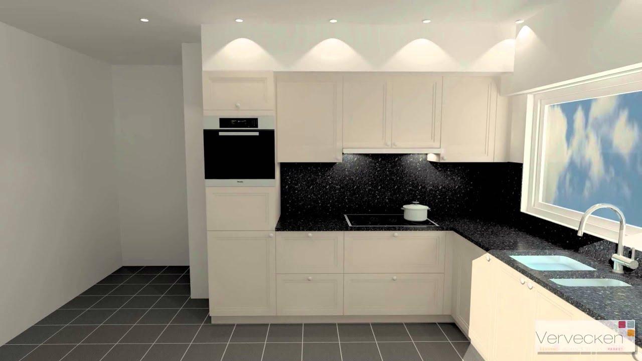Keuken model cambia structuurlak met granieten werkblad youtube