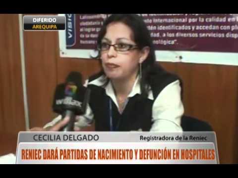 Arequipa dará partidas de nacimiento vía internet from YouTube · Duration:  2 minutes 55 seconds