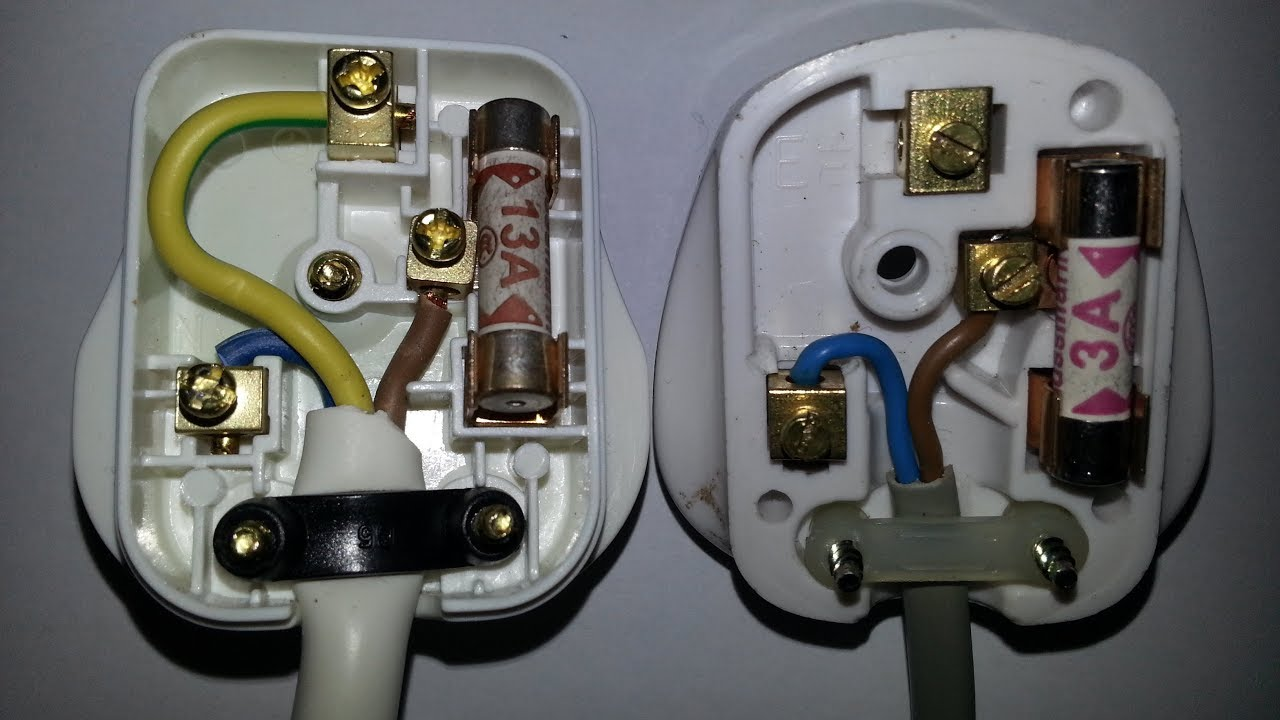 how to wire a uk mains plug by john gage youtube wiring an electric plug uk [ 1280 x 720 Pixel ]