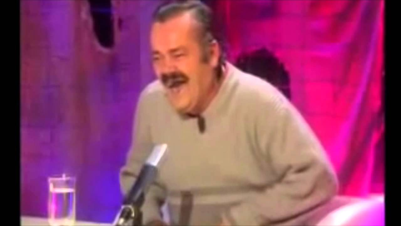 Man Laughing During Interview