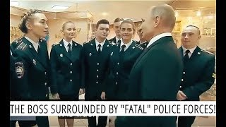 BEHIND THE SCENE: Putin Chatting With Beautiful Russian Cadet - Girls