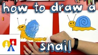 How To Draw A Snail (for young artists)