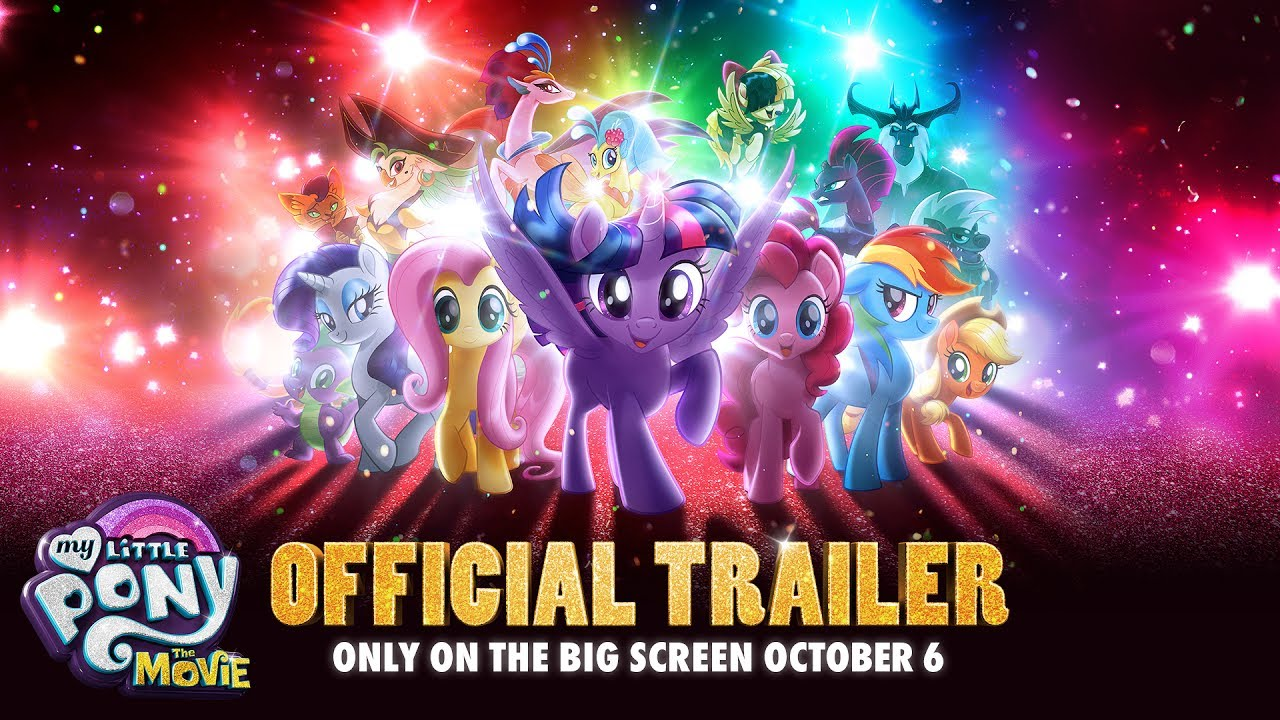 My Little Pony The Movie Official Trailer Debut Youtube Kaos Kaki Florist Wr 002