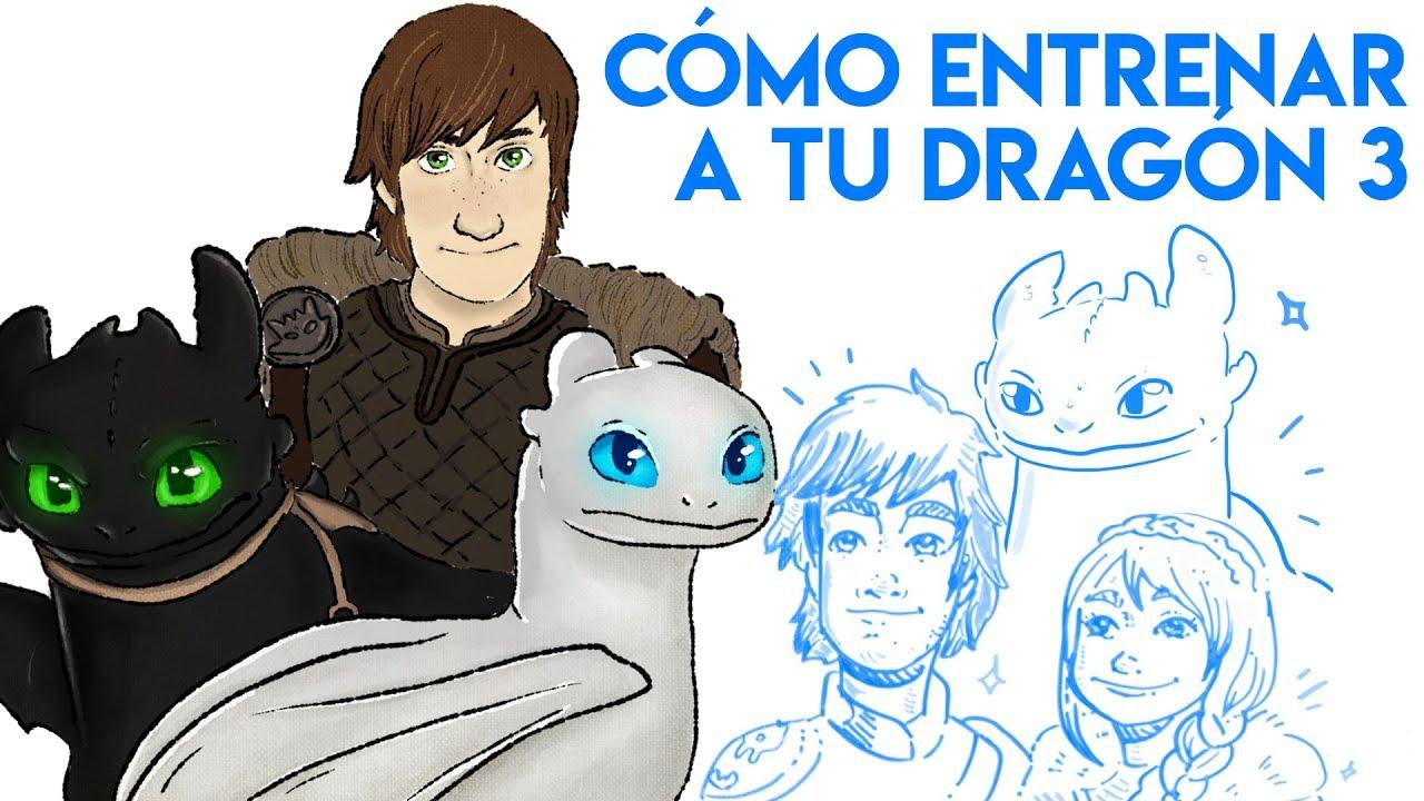 CÓMO ENTRENAR A TU DRAGÓN 3 con ANDREA COMPTON y DEAN DEBLOIS   Draw My Life