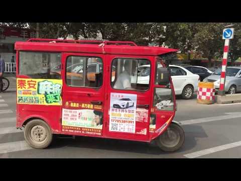 China-Shandong Taian Motorcycle Taxi Ride