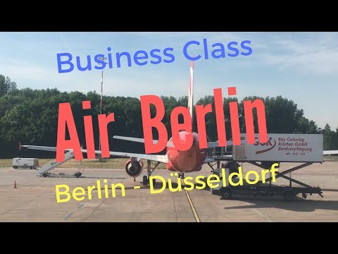 Air Berlin Business Class A320-200 | Berlin - Düsseldorf | Trip report 2017