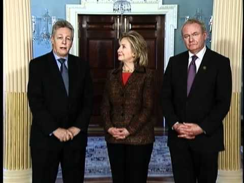 Secretary Clinton Meets With Ministers Robinson and McGuinness of Northern Ireland