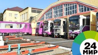 «Москва» в бакинском метро: Алиев оценил новые поезда из России - МИР 24