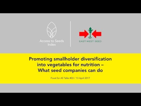 Promoting Smallholder Diversification into Vegetables - What Seed Companies Can Do