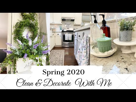💐SPRING 2020💐 | CLEAN & DECORATE WITH ME | FRENCH COUNTRY FARMHOUSE STYLE | MONICA ROSE