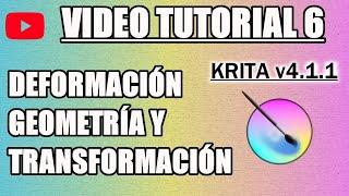 ✍️ Tutorial 6 Krita en Español - Geometria, Transformacion, Deformacion y Pincel Dinámico