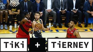 Warriors STEAL from the Trail Blazers | Tiki and Tierney