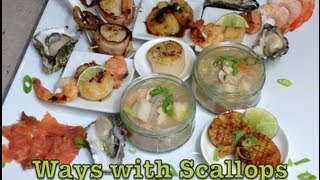 Scallops 6 Ways Taster Plate Video Recipe Cheekyricho