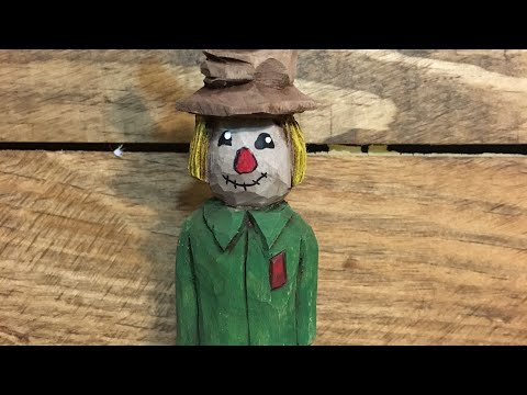 Scarecrow Wood Carving