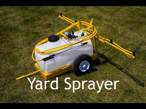 Lawn and Garden Sprayer - 25 Gallon - 5 Tips - Breakaway Booms - 15' Hose and Gun