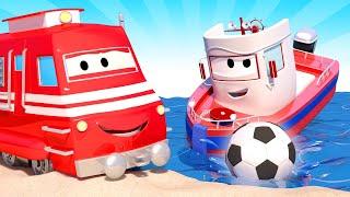 Zug für Kinder -  Lerne Bobby das Boot kennen  - Troy der Zug in Car City