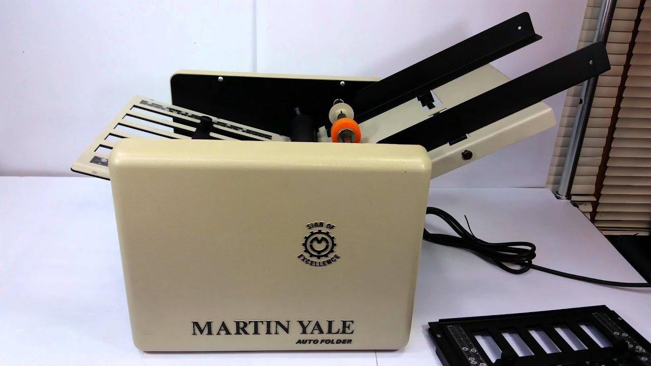 Martin Yale Automatic Letter Folder Cv 7 Youtube