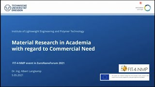 Material Research in Academia with regard to Commercial Need, Dr.-Ing. Albert Langkamp, TU Dresden