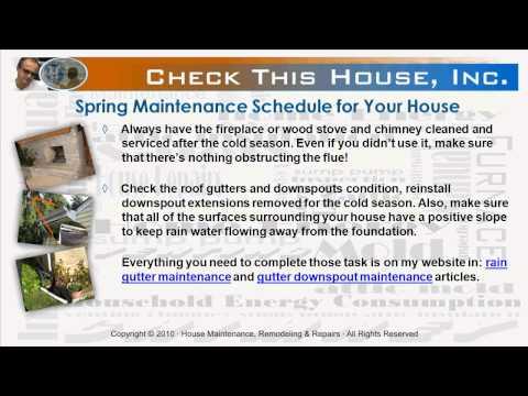 Spring Home Maintenance Schedule, Preventive Maintenance Checklist