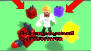 Roblox cookie simulator part 16: look at my new pets space cat and evil wolf