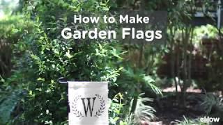 DIY No-sew Garden Flag Tutorial