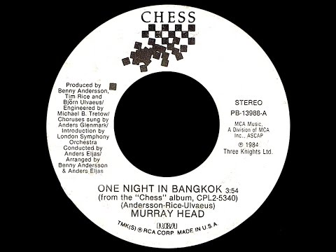 Murray Head ~ One Night In BangkokChess Medley 1984 Disco Purrfection Version