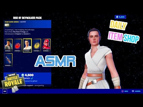ASMR 😱 Fortnite Star Wars Buying Everything! Daily Item Shop Update 🎮🎧Whispering😴💤