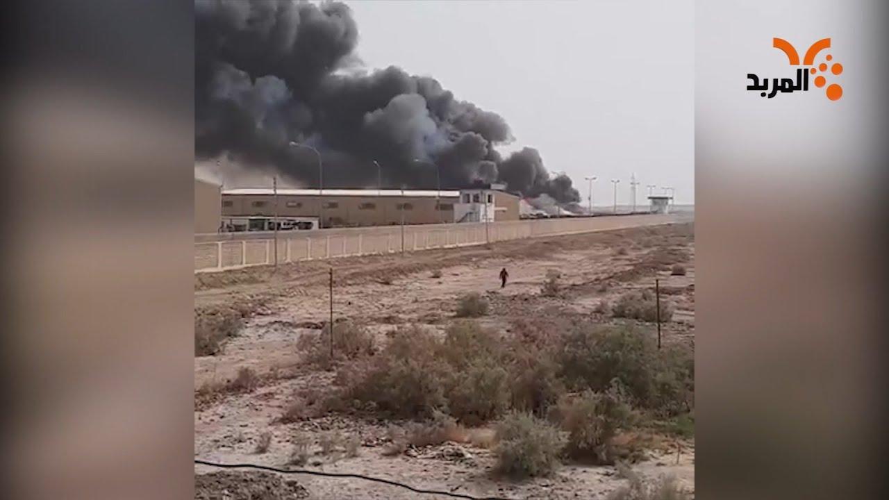 امتداد حريق احد البساتين إلى مخازن كهرباء شمال الناصرية #المربد