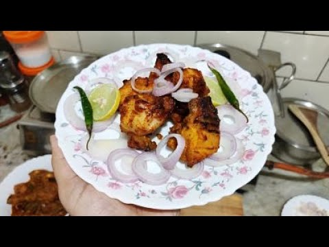 TANDOORI CHICKEN SIMPLE  RECIPE. [ nonveg recipe ]