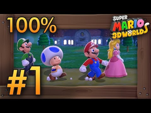 Super Mario 3D World 4 Player Co-Op World 1 - 100% Walkthrough