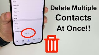 How To Delete Mulтiple iPhone Contacts At Once!!