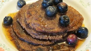 Vegan Gluten-Free Oatmeal Pancakes! Easy Recipe!