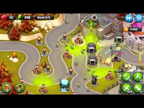 Alien Creeps Walkthrough Level 42 Geiger Gates for 3 Stars Campaign gameplay