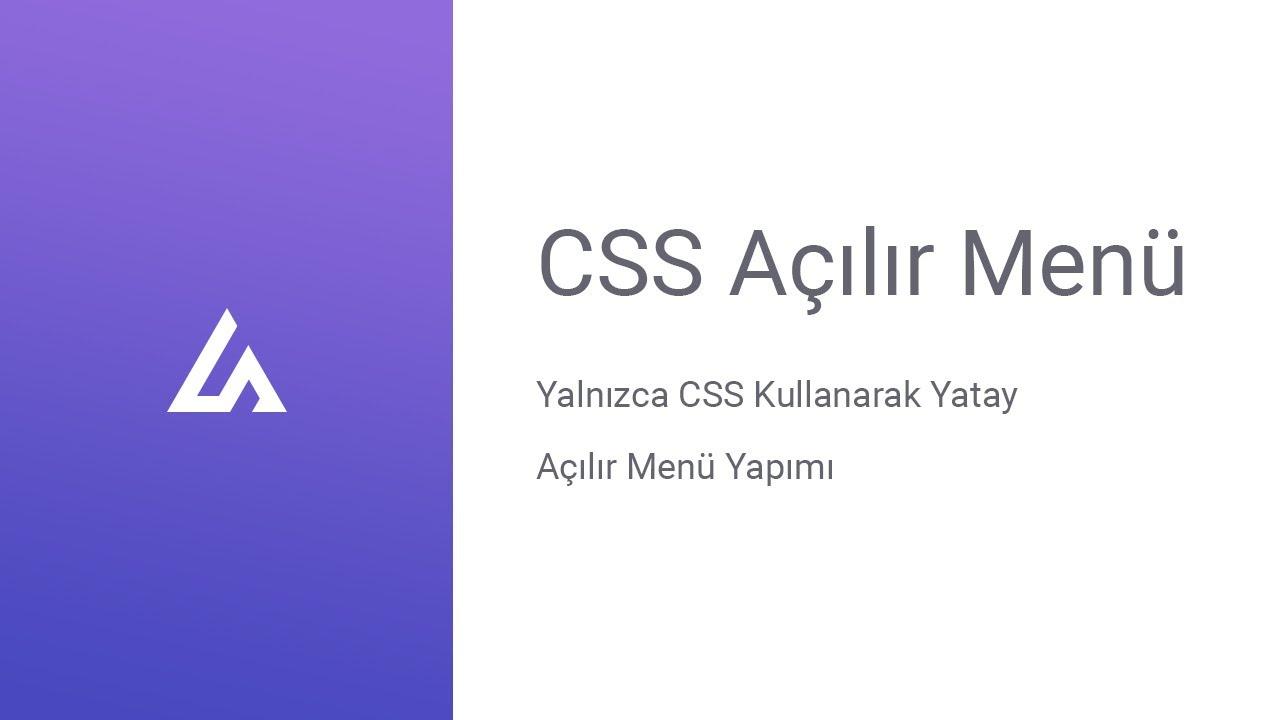 CSS açılır menüsü nasıl açılır