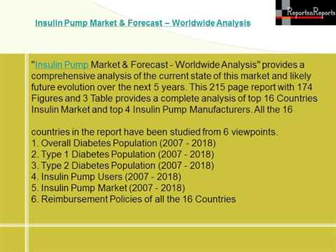 Worldwide Insulin Pump Market and Forecast 2018