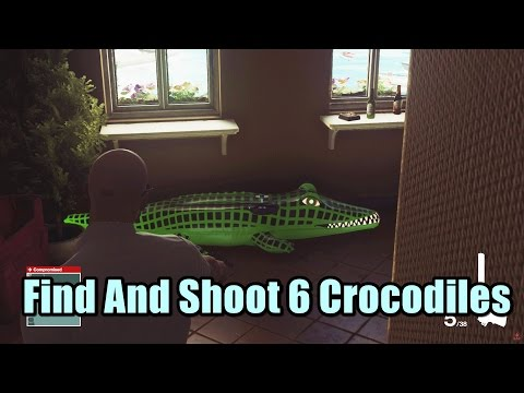 Hitman Find And Shoot 6 Crocodiles - Discovery Investigator Challenge