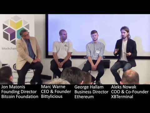 'Blockchain 2020' Panel (Jon Matonis, Marc Warne, George Hallam, Aleks Nowak), Blockchain Conference