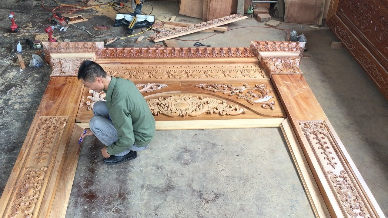 Woodworking Build Emble A Front Door Frame With
