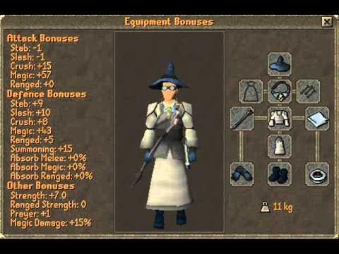 Max Mage Gear in Runescape For F2P (2011)