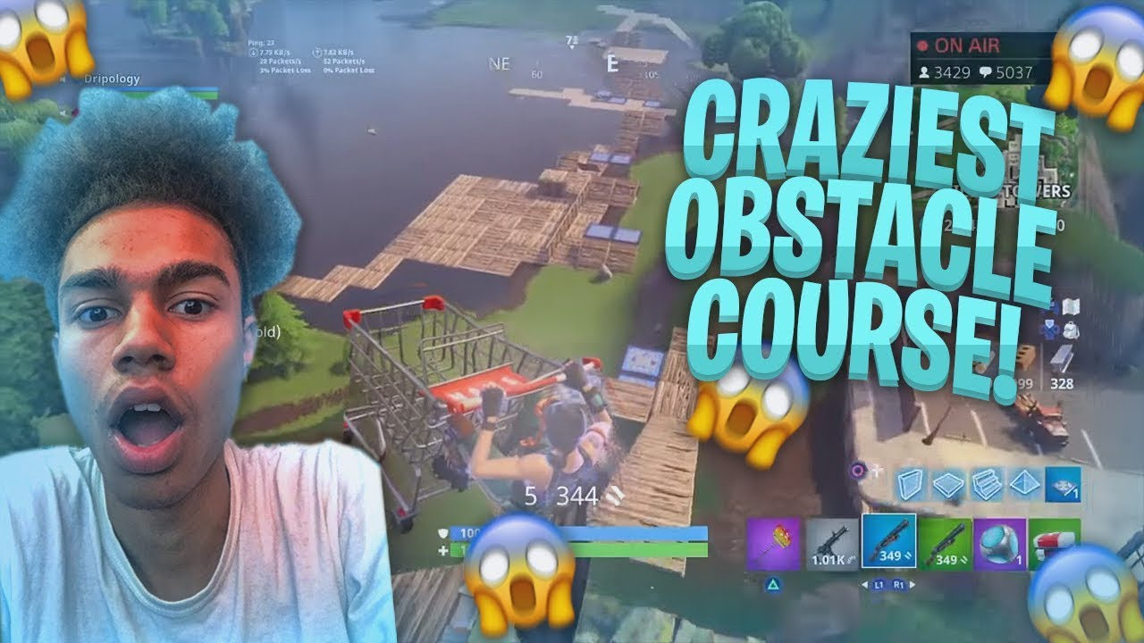 MAKING THE CRAZIEST OBSTACLE COURSE IN THE PLAYGROUND on FORTNITE BATTLE ROYALE