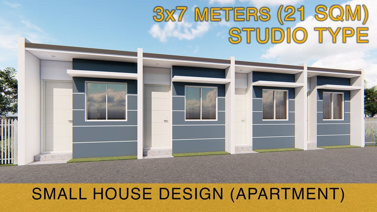 Small House Design Idea Apartment 3x7 Meters 21sqm Studio Type Youtube